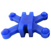 BowJax Revelation Split Limb Dampeners - 11/16, 4/pk., Blue, Hoyt