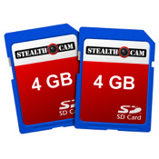 GSM SD Memory Card, 2/pk., 4GB