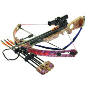 Arrow Precision Inferno Blitz Optimum Crossbow Package, 150lbs, Camo, w/4x32 Multi-Reticle Illum. Scope