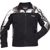 Rocky Fleece Full Zip Jacket, Lg, Black/Snow