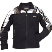 Rocky Fleece Full Zip Jacket, 2X, Black/Snow