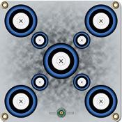 """Arrowmat Foam Rubber Target Face - 9 Spot Blue, 17""""x17"""""""