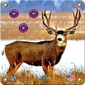 """Arrowmat Foam Rubber Target Face - Mule Deer, 17""""x17"""""""