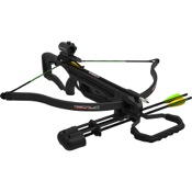 Barnett Recruit Recurve Crossbow Package, 150lbs, Black, w/Red Dot Sight