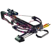 Barnett Raptor FX Pink Camo Crossbow Package, 150lbs, HiDef Pink, w/4x32 Scope