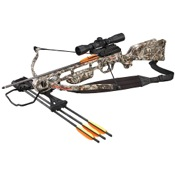 SA Sports Fever Recurve Crossbow Package, 175#, Camo, w/4x32 Mult-Ret Scope