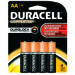 Duracell Coppertop Alkaline Battery - AA, 4/pk.
