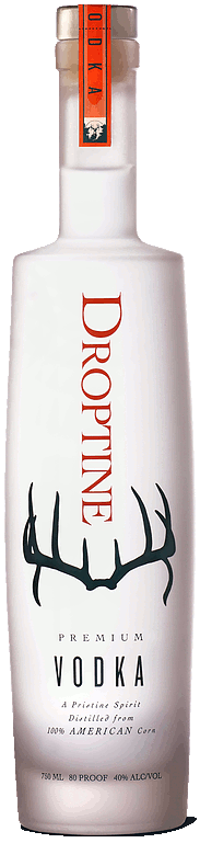 Droptine Spirits vodka bottle