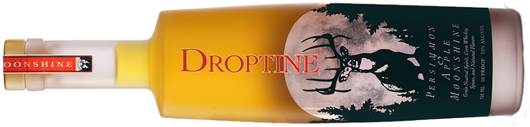 Droptine Spirits moonshine - persimmon and apple